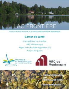 Consulter le carnet de santé du lac Frontière