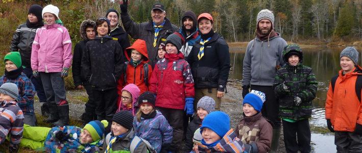 Les scouts s'instruisent au parc national du Lac-Témiscouata