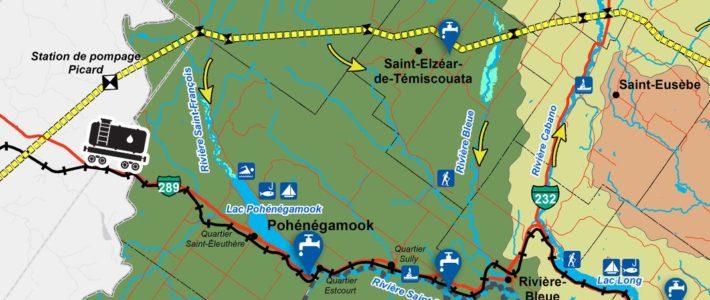 Sensibilisation sur les risques pour l'eau du transport de pétrole dans le Haut-Saint-Jean