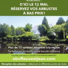 Riverains: commandez vos arbustes et arbres!