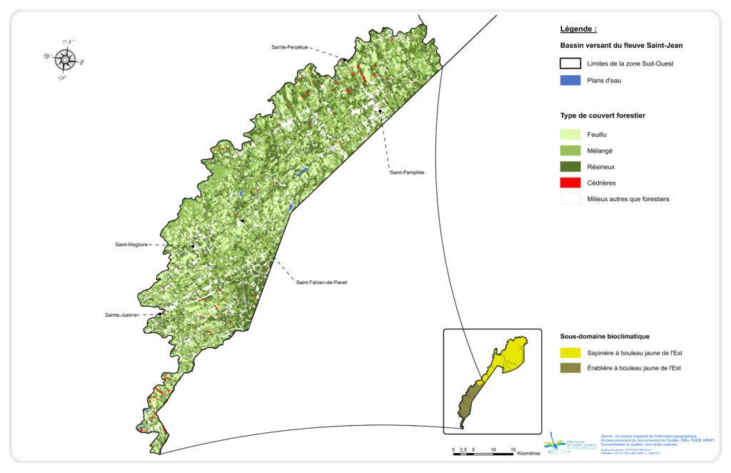 Les peuplements forestiers de la zone Sud-Ouest