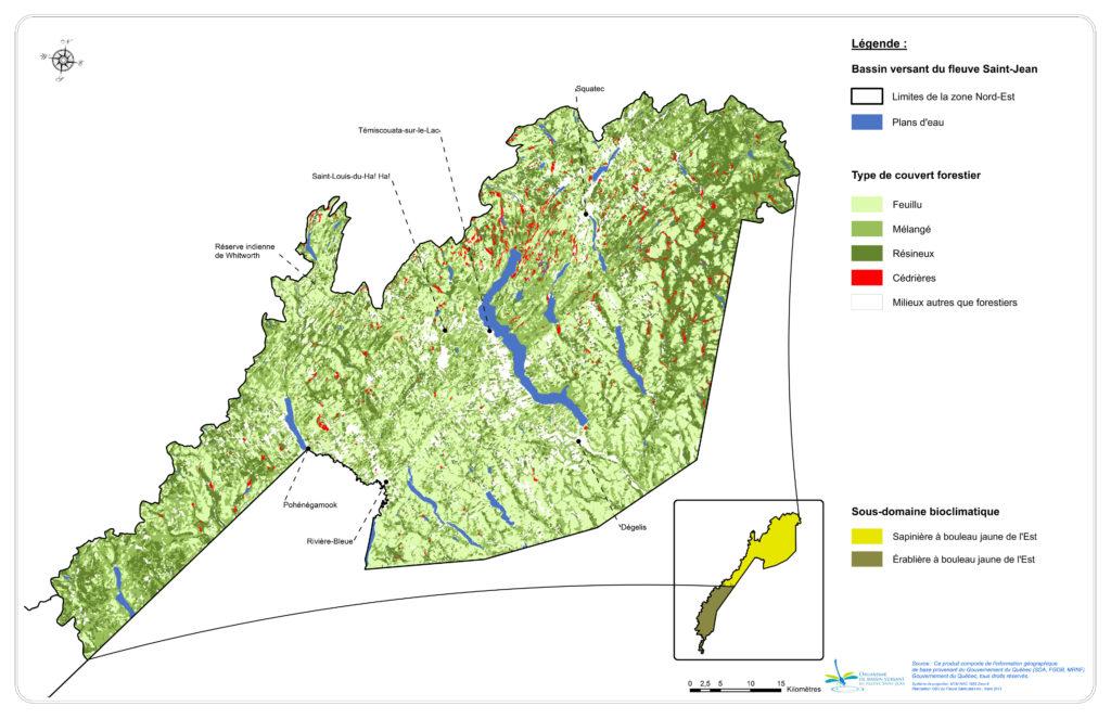 Les peuplements forestiers de la zone Nord-Est