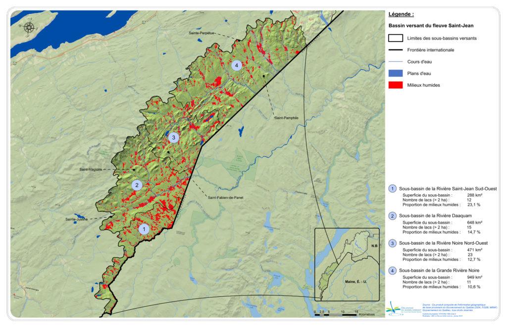 Les principaux bassins versants de la zone Sud-Ouest et leurs réseaux hydriques