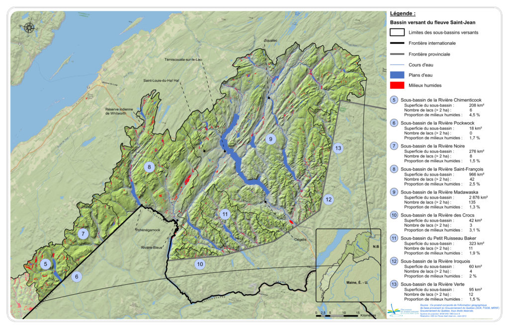 Les principaux bassins versants de la zone Nord-Est et leurs réseaux hydriques
