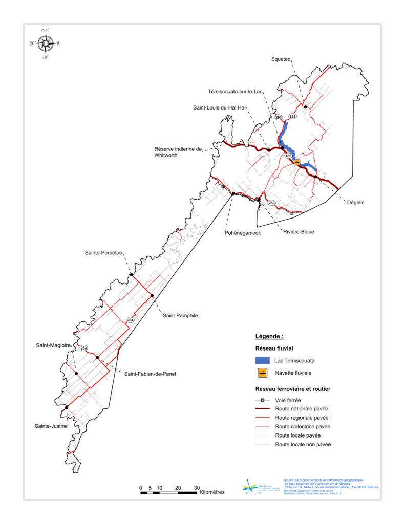 Les réseaux de transport du BVFSJ