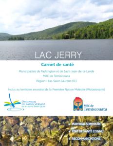 Consulter le carnet de santé du lac Jerry