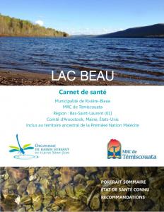 Consulter le carnet de santé du lac Beau