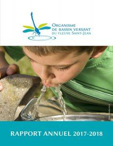 Rapport annuel 2017-2018 de l'OBV du fleuve Saint-Jean