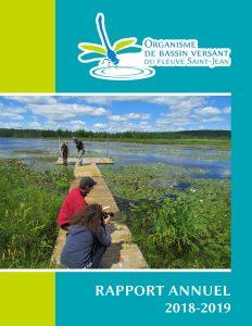 Rapport annuel 2018-2019 de l'OBV du fleuve Saint-Jean.