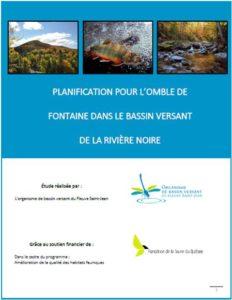 Planification pour l'ombre de fontaine - Rivière Noire - OBVFSJ