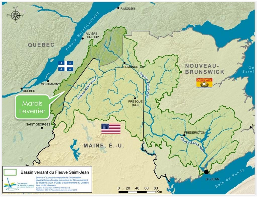 Localisation du marais Léverrier
